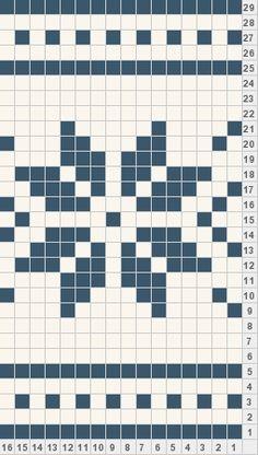 Snowflake crochet graph. Good for borders.
