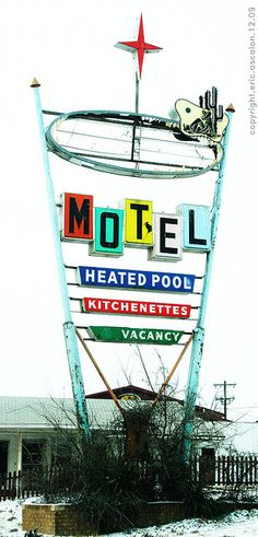 Motel sign, Route 66 - Woodward, Oklahoma ~ sign removed 2011