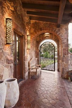 Old world hacienda offers timeless design features in Austin, Texas Luxury Mediterranean Homes, Mediterranean House Plans, Mediterranean Decor, Mediterranean Architecture, Tuscan Style Homes, Spanish Style Homes, Tuscan House, Spanish Revival, Spanish Colonial