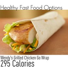 A list of healthy fast food options.