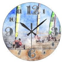 Sand Yachting Competition Wall Clocks