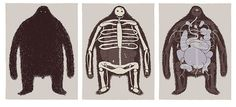 Hairy Monster Triptych by tom gauld, via Flickr