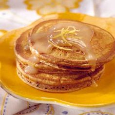 Gingerbread Pancakes For breakfast or brunch, serve this molasses and spice pancake recipe with poached apple slices and crisp bacon strips.