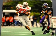"854442e2825 $75.44 Autographed Eddie George Ohio State Buckeyes 16 X 20 photo. Eddie  added ""HEISMAN"