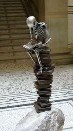 """Extraordinary sculptures by Saúl Hernández (from Guadalajara, Jalisco, Mexico) . . . a collection of 21 bronze sculptures of 21 centimeters in height.  He uses the most common representation of death which is the human skeleton in a 1:8 scale replica of a real skeleton.   His sculptures represent the character in different every day attitudes, playing golf or soccer, thinking, playing guitar or making love.""  http://funguerilla.com/extraordinary-skeleton-sculptures-by-saul-hernandez/ .."