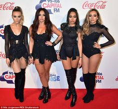 Wow: The girls all looked stunning once again on Sunday night as they performed at the JJB once again