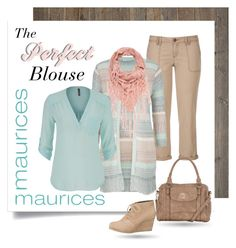 """""""Blouse - Maurices"""" by sherrifitzgerald ❤ liked on Polyvore featuring maurices"""