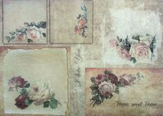 Rice Paper for Decoupage Decopatch Scrapbooking Sheet Craft Vintage Sweet Home