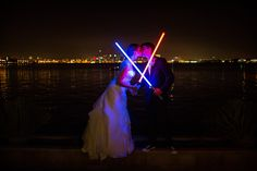 The Star Wars Wedding That Took The Internet By Storm #refinery29  http://www.refinery29.com/bridal-guide/6#slide-7  Next: 15 Ways To Make Your Reception More Fun
