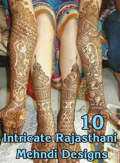 "Rajasthani Mehndi Designs: The most unique part of the Rajasthani mehndi design is the ""mirror reflecting art.Check out some Beautiful Mehndi Designs."
