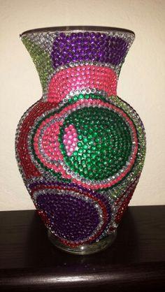 Colored circles vase 2
