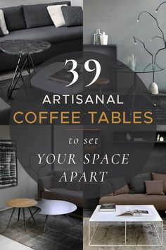 Playing a central role in a living space, coffee table can bring not only a practical but also an artistic value to your home interior. Whether it's a particular style you are looking for or a unique solution to make a bold statement, our ultimate guide will make it easy to pick a perfect coffee table for your taste. Explore our tips and ideas as well as a selection of handcrafted coffee tables, handpicked and sorted by shape, style and material for your convenience. Coffee Table Vignettes, Coffee Tables, Long Sofa, Traditional Style Homes, Circular Table, Living Room Accents, Luxury Decor, Decorative Accents, Small Tables
