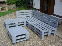 Pallets Garden Lounge / Salon de jardin en palettes europe | 1001 Pallets