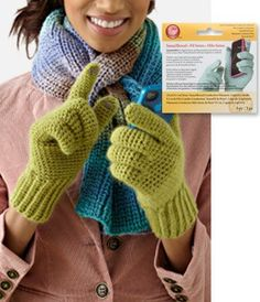 Medium Weight Gloves free crochet pattenr - Free Crochet Glove Patterns - The Lavender Chair