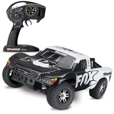 Traxxas Slash 4x4 VXL Brushless RTR Short Course RC Truck with TSM - Fox Racing Body (68086-4)