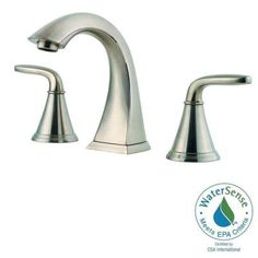 Pfister Pasadena 8 in. Widespread 2-Handle High-Arc Bathroom Faucet in Brushed Nickel-F-049-PDKK - The Home Depot