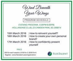 Workshop by FlexTalent - Wind beneath your wings - reinvent yourself