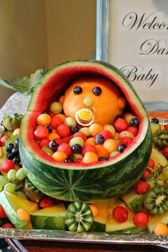 how to make a baby in watermelon pram - Google Search