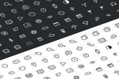Outline Icon Set 100+ by JacobKei on @creativemarket
