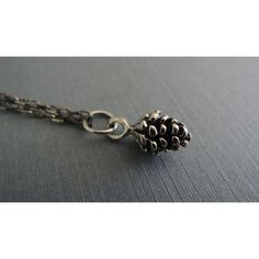 Pine Cone Necklace Tiny Antique Silver Pine Cone Charm Delicate Small... (28 CAD) ❤ liked on Polyvore featuring jewelry, silver jewellery, pendant charms, antique silver pendants, antique silver jewellery and silver jewelry