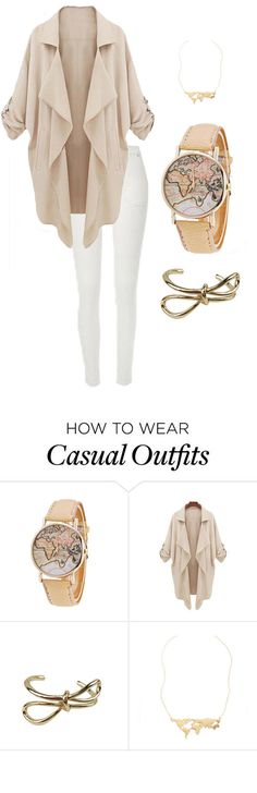Need to add these to my wardrobe!  A thick, oversized cream coat styled over, bracelet and map watch.  So casual and cute, I' m falling in love with fall!