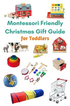 This Montessori friendly Christmas gift guide includes gifts that are gender neutral, categorized by development, and includes ages from infant to 5 years. Learning Games For Kids, Toddler Learning, Infant Activities, Activities For Kids, Preschool Ideas, Christmas Gift Guide, Christmas Toys, Montessori Toddler, Montessori Bedroom