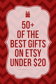 50 of the best gifts on Etsy for under $20 - for HER, for HIM and for the KIDS