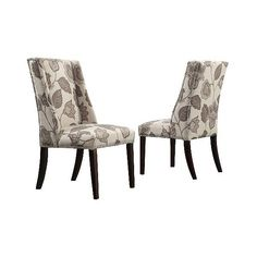 Harlow Wingback Floral Dining Chair with Nailheads Wood/Gray ($380) ❤ liked on Polyvore featuring home, furniture, chairs, dining chairs, grey, grey chair, gray nailhead dining chair, wood kitchen chairs, wood side chair and wooden chairs
