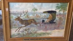 Super Rare John Deere Framed Chromolithograph by RedRiverAntiques