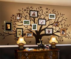 Family Tree Wall Decal - traditional - decals - other metro - Simple Shapes. For a guest room or master bedroom? maybe a second living room? Yes I will have two living rooms. Only uncivilized people have one living room lol Jk