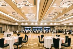A wedding reception setup in the Archibald Cochran Ballroom at The Galt House Hotel in Louisville, KY. Hotel Wedding, Wedding Reception, Galt House Hotel, Premier Hotel, How To Memorize Things, Weddings, Decor, Decorating, Mariage