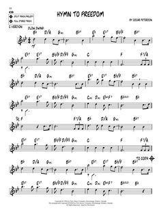 hymn to freedom lead sheet - Google Search