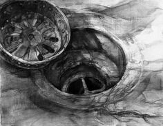 2014/charcoal drawing/monochrome/light/drainage