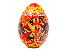 Hollow Pisanka Egg-You may be familiar with the Ukrainian Pisanki eggs that are decorated with dyes on real chicken eggs.  Well, these wooden eggs are intricately hand painted with similar geometric designs to mimic pisanka artwork, only they offer one thing that the real chicken egg cannot:  they open!  Each egg is hollow, and joined in the middle like a nesting doll.  Golden Cockerel