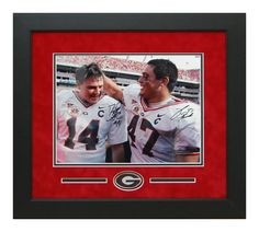 David Greene David Pollack Georgia Bulldogs 11x14 Autographed - Custom Framed Picture - Last Game together  Will display nicely in any Fan Room, Office, Man Cave or DAWG House! #ManCaveDecor #GeorgiaBulldogs #SportsMemorabilia #Autographs #GiftsForHim #DavidPollack #DavidGreene