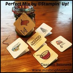 Perfect Mix stamp set in combination with watercolor pencils by Stampin' Up! Made by Danielle Bennenk www.mrsbrightside.nl
