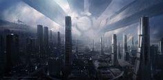 Mass Effect Citadel digital artwork by Mikko Kinnunen.