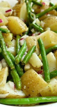 Potato Green Bean Salad Tossed in Olive Oil & Vinegar Dressing