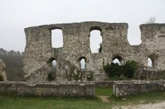 Chateau Gaillard, Les Andelys, west of Paris in the Normandy region. Built in 1196-98 and inhabited by Richard the Lionheart. It is overlooks the Seine River valley, which provided the perfect vantage point to spot an approaching enemy.
