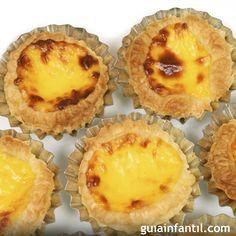Pasteles tradicionales de Portugal, receta para niños. Receta tradicional de los pasteles de Belem