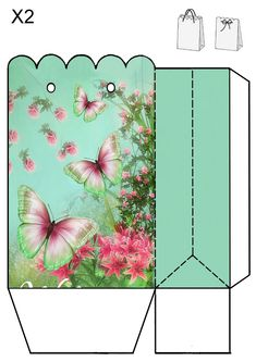 Pretty butterfly gift bag to print.  No source, just a picture.