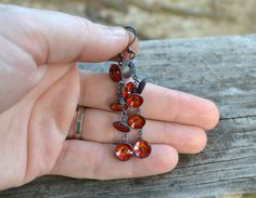 flame earrings sterling silver copper and by wildflowerdesigns
