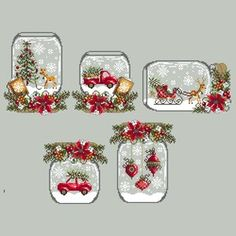 Car Snowglobe — Shannon Christine Designs Cross Stitch Patterns <br> Christmas Car Snowglobe cross stitch pattern by Shannon Wasilieff Stitch Count: by Materials Needed: DMC, Kreinik, Mill Hill Beads as listed Cross Stitch Christmas Ornaments, Xmas Cross Stitch, Counted Cross Stitch Patterns, Cross Stitch Charts, Cross Stitch Designs, Cross Stitching, Cross Stitch Embroidery, Embroidery Patterns, Loom Patterns