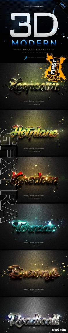 Modern 3D Text Effects GO.6 - GraphicRiver 11026254