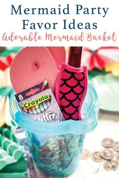 Make a sweet little mermaid party favor with the simple ideas and inspiration from Everyday Party Magazine #Mermaid #KidsPartyIdeas #LittleMermaid
