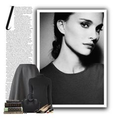 """""""Natalie Portman"""" by ameve ❤ liked on Polyvore featuring Rochas, Majestic Filatures, Givenchy, Jimmy Choo, Chanel and Kendra Scott"""