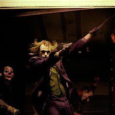 "asleepinahurricane: "" It's simple. We, uh, kill the Batman. The Man Who Laughs, Dc World, Heath Ledger Joker, The Dark Knight Trilogy, Pennywise The Clown, Joker Dc, Cultura Pop, Gotham City, Looks Cool"