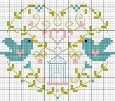 Handmade NL: Weekend, borduurpatroon vogeltjes