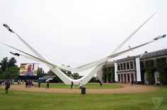 Each year since the Goodwood Festival of Speed has been graced by a Central Feature, a grand sculpture celebrating a particular marque and its latest anniversary or celebration.
