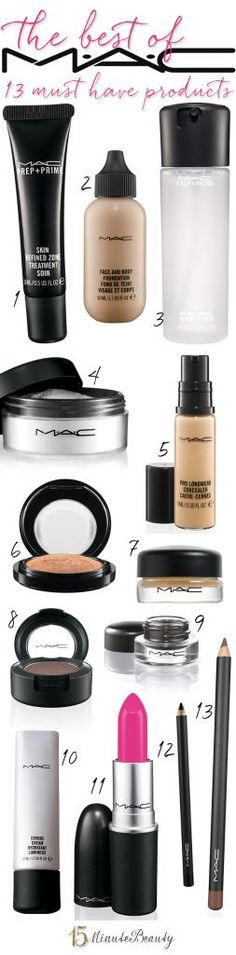 The Best Makeup from MAC: The 13 Products You Must Have! - 15 Minute Beauty Fanatic - - The Best Makeup from MAC: The 13 Products You Must Have! – 15 Minute Beauty Fanatic Hair and Beauty The Best of The 13 Products You Must Have! via 15 Minute Beauty Best Mac Makeup, Love Makeup, Best Makeup Products, Makeup Tips, Makeup Looks, Beauty Products, Makeup Tutorials, Makeup Ideas, Contouring Products